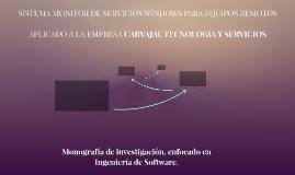 SISTEMA MONITOR DE SERVICIOS WINDOWS PARA EQUIPOS REMOTOS