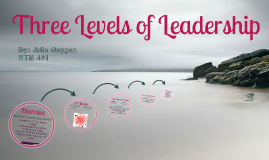 Three Levels of Leadership