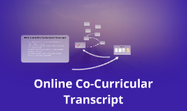 Online Co-Curricular Transcript