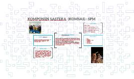 KOMPONEN SASTERA  (KOMSAS) - SPM