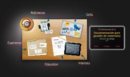 Documentación para gestión de materiales