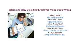 When and Why Soliciting Employee Voice Goes Wrong