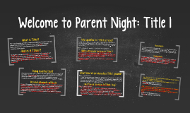 Champion Chandler Welcome to Parent Night: Title 1