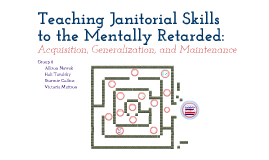 Teaching Janitorial Skills to the Mentally Retarded: Acquisition ...