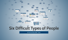 Copy of Six Difficult Types of People & How to Deal with Them