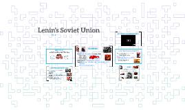 Lenin's Soviet Union