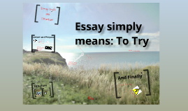 Essay Craft and Structure
