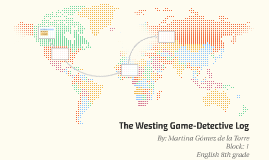 The Westing Game-Detective Log