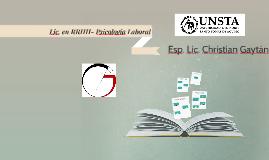 Lic. en RRHH- Psicologia Laboral