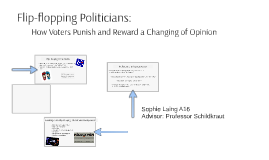 Flip-flopping Politicians: How Voters Punish and Reward a Ch