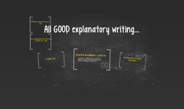 All GOOD explanatory writing...