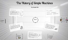 Copy of The History of Simple Machines