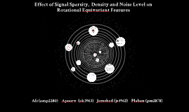 Effect of Signal Sparsity, Signal Density and Noise Level on