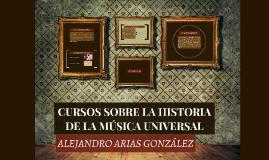 CURSOS SOBRE LA HISTORIA DE LA MÚSICA UNIVERSAL