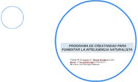 PROGRAMA DE CREATIVIDAD PARA FOMENTAR LA INTELIGENCIA NATU