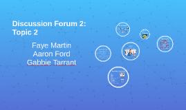 Discussion Forum 2: