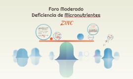 Copy of Foro Moderado Deficiencia de Micronutrientes