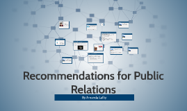 Recommendations for Public Relations