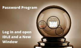 Password Program