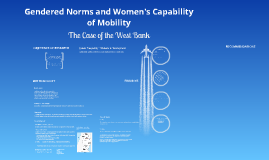 Gendered Norms and Women's Capability of Mobility