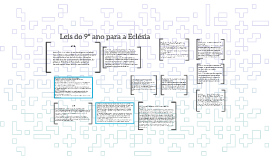Leis do 9º ano para a Eclésia