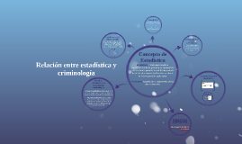 Copy of Relación entre estadística y criminología