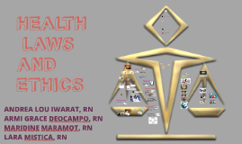 Health Laws and ethics report