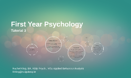 First Year Psychology