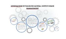 GENERACION DE VALOR EN CADENA / SUPPLY CHAIN MANAGEMENT
