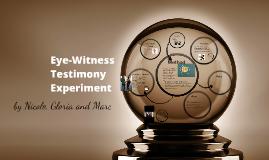 Eye-Wittness Testimony