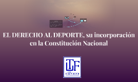 EL DERECHO AL DEPORTE, su incorporación en la Constitución N