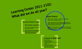 Learning Center 2011-12