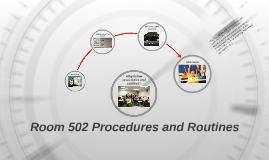 Room C-19 Procedures and Routines
