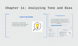 Chapter 11: Analyzing Tone and Bias