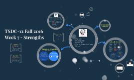 TSDC-12 Fall 2016 Strengths