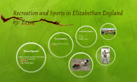 Recreation and Sports in Elizabethan England