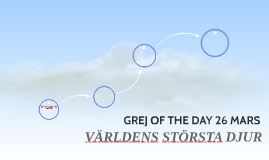 GREJ OF THE DAY 26 MARS