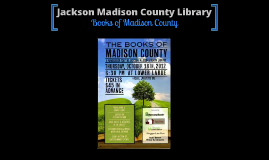 Books of Madison County Library and website
