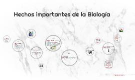 Hechos importantes de la Biologia