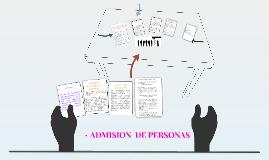 ADMISION DE PERSONAS