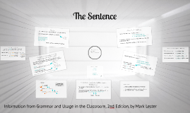 The Sentence - Grammar