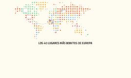 Los 40 lugares más bonitos de Europ
