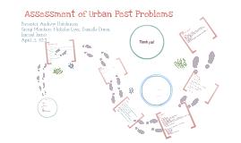 Assessment of Urban Pest Problem