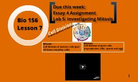 Bio 156 Lesson 7