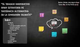 """""""El trabajo cooperativo como estrategia de enseñanza alterna"""