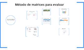 RAF 6 - Método de evaluación por matrices