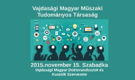 Vajdasági Magyar Műszaki Tudományos Társaság
