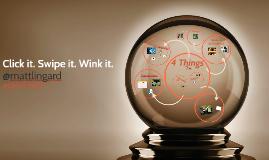 Click it. Swipe it. Wink it.