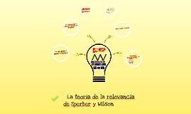 La teoría de la relevancia de Sperber y Wilson