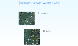 Paraguay Highway Route